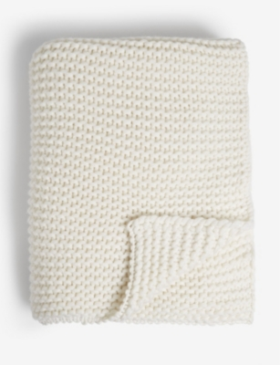 JOHNSTONS Large knitted cashmere stole