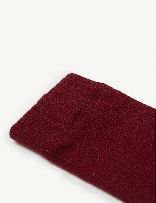 JOHNSTONS Plain cashmere wrist warmers