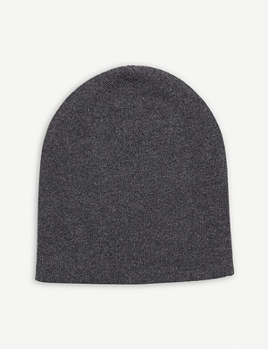 JOHNSTONS Reversible cashmere beanie