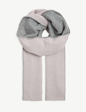JOHNSTONS Reversible cashmere scarf
