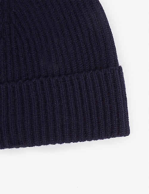 JOHNSTONS Ribbed cashmere beanie