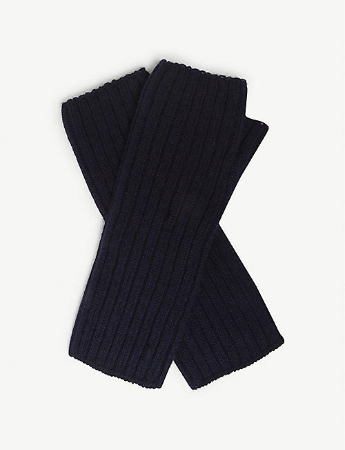 JOHNSTONS Ribbed cashmere wrist warmers