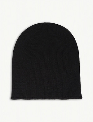 JOHNSTONS Roll trim cashmere hat