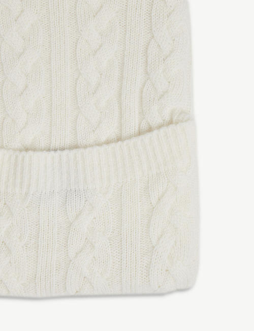 JOHNSTONS Cable knit cashmere hot water bottle