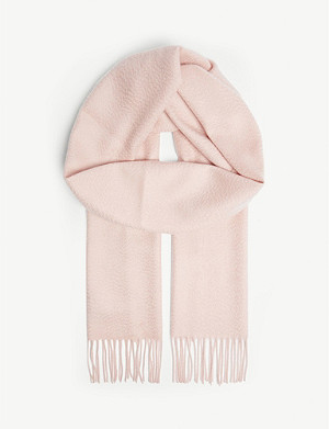 JOHNSTONS Classic personalised cashmere scarf
