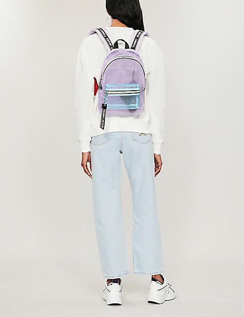TOMMY JEANS Logo tape mini mesh backpack