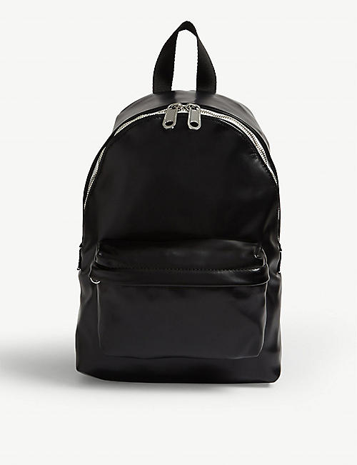 TOMMY JEANS Logo tape faux-leather backpack