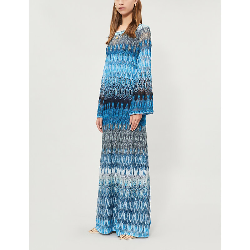 Missoni Dresses ZIGZAG-PATTERNED WOVEN MAXI DRESS