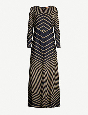 MISSONI Striped stretch-silk maxi dress