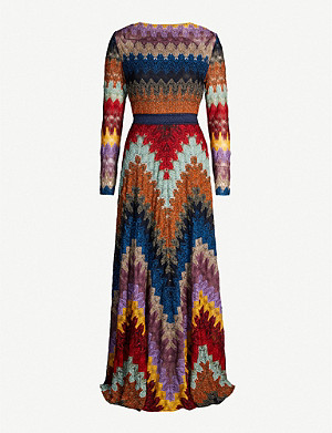 MISSONI Geometric-print stretch-silk maxi dress
