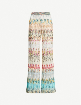 MISSONI Zigzag wide-leg woven trousers