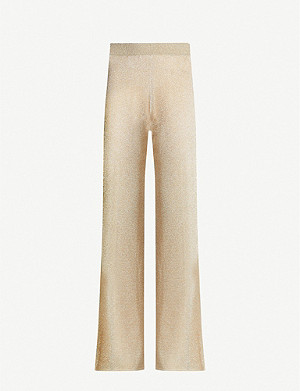 MISSONI High-rise cropped knitted trousers