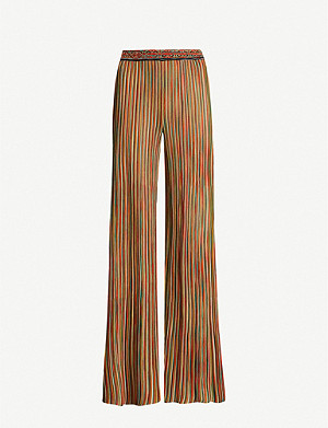 MISSONI Striped knitted trousers