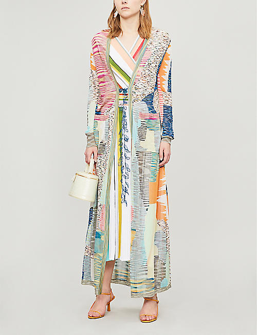 MISSONI Branded-pattern woven cardigan
