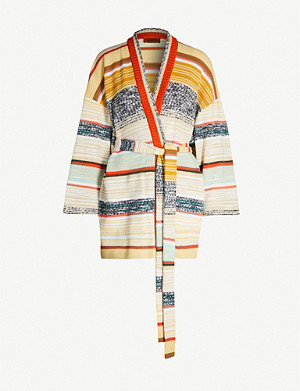 MISSONI Striped knitted wrap cardigan