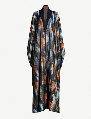 MISSONI Kaftan-sleeve metallic stretch-knit cardigan