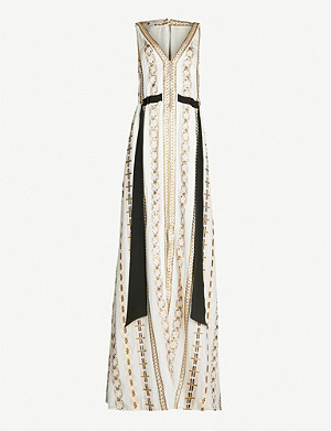 TEMPERLEY LONDON Spirit metallic-brocade chiffon gown