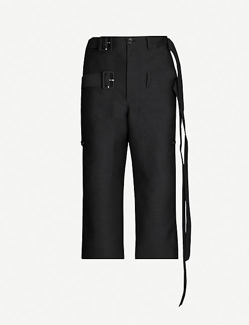 LANVIN Cropped high-rise wool-blend trousers