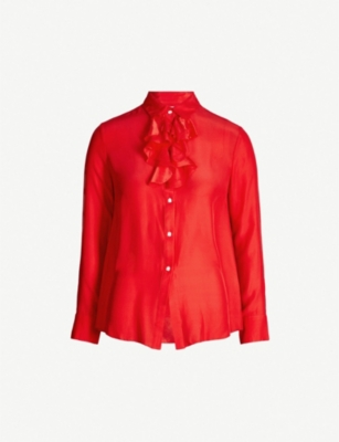 OSMAN Salika silk-satin shirt