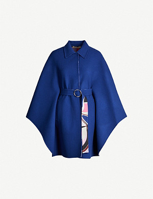 EMILIO PUCCI Belted wool-blend coat