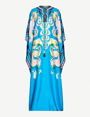 EMILIO PUCCI Graphic-print silk maxi dress