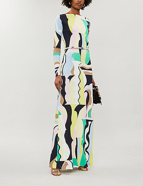EMILIO PUCCI Signature-print boat-neck stretch-jersey dress