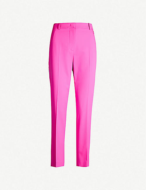 EMILIO PUCCI Slim-fit cropped tapered woven-wool trousers