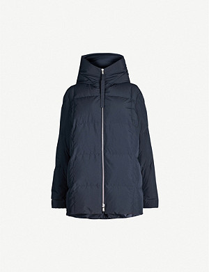 JIL SANDER Hooded funnel-neck quilted shell-down jacket