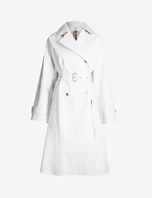 JIL SANDER Double-breasted cotton coat