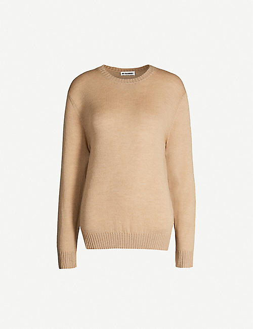 JIL SANDER Relaxed fine wool-knit jumper