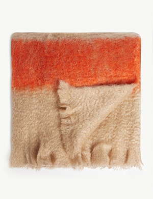 JIL SANDER Mohair and wool-blend blanket