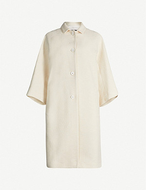 JIL SANDER Cropped sleeve cotton-blend coat