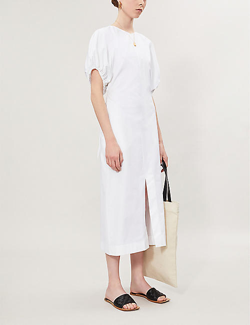JIL SANDER Raglan cotton-poplin midi-dress