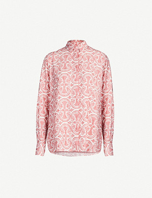 JIL SANDER Lynch graphic-pattern crepe shirt