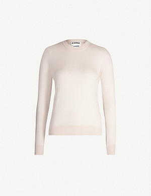 JIL SANDER Long-sleeved cashmere and silk-blend jumper