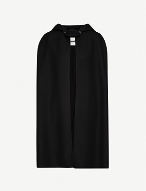 JIL SANDER Munich hooded cashmere cape