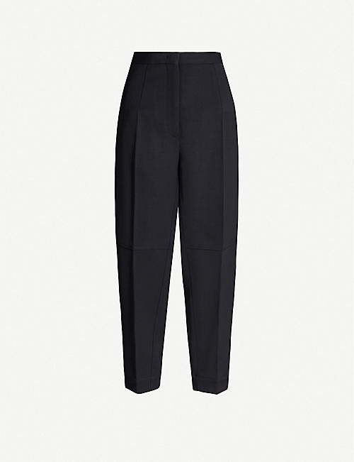 JIL SANDER Leon tapered high-rise wool trousers