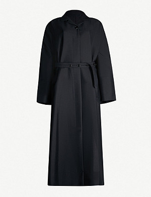 JIL SANDER Libby belted mohair and wool-blend coat