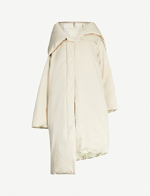 JIL SANDER Lorna stripe-panel padded cotton coat