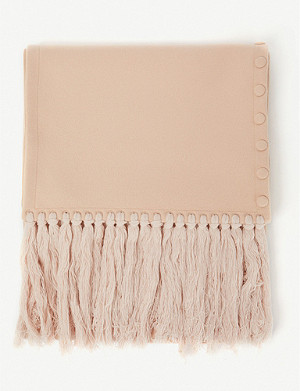JIL SANDER Fringed press-stud virgin wool scarf