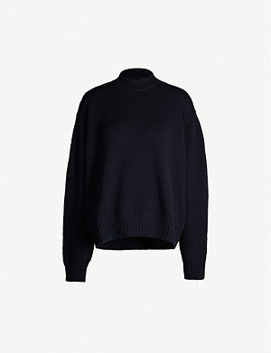 JIL SANDER High-neck wool and cashmere-blend jumper