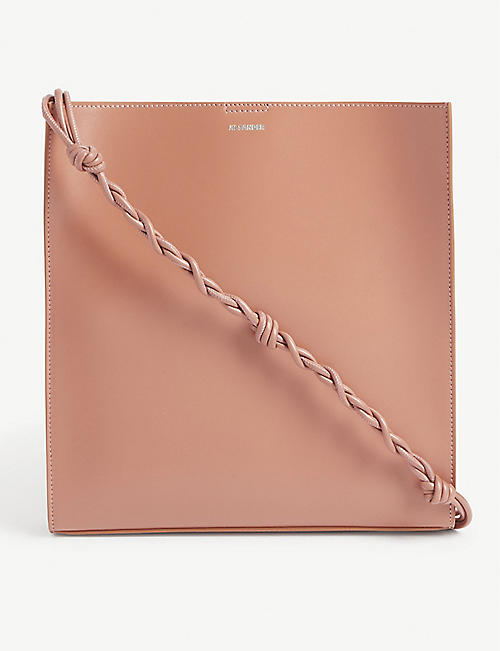 JIL SANDER Tangle medium leather cross-body bag