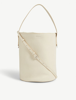 JIL SANDER Leather bucket bag