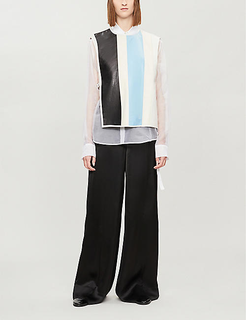 JIL SANDER Lando wide-leg high-rise crepe trousers