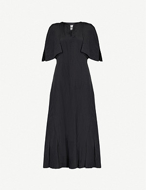 JIL SANDER Split-sleeve woven midi dress