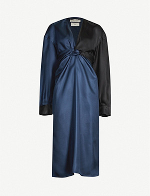 BOTTEGA VENETA Knot-detail silk dress
