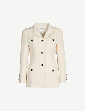 ALESSANDRA RICH Fitted wool and cotton-blend tweed jacket