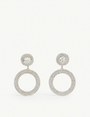 ALESSANDRA RICH Crystal hoop earrings