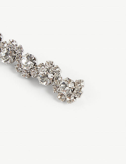 ALESSANDRA RICH Crystal hair slides set of three