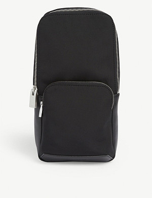 ALYX Nylon and leather Rollcercoaster buckle sling bag